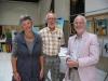 Paroda Roterdame, 2012 su poete Coby Poelman   Exhibition in Rotterdam, 2012 with a poetess Coby Poelman